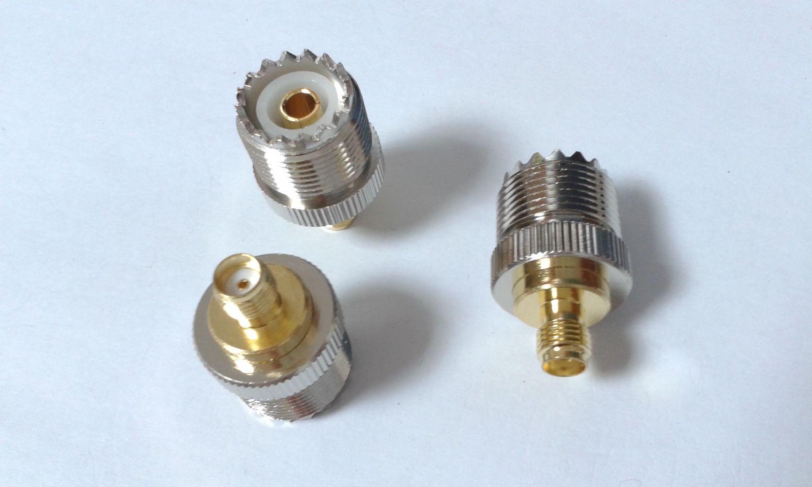 UHF أنثى SO-239 جاك إلى SMA أنثى جاك RF موصل محول مستقيم
