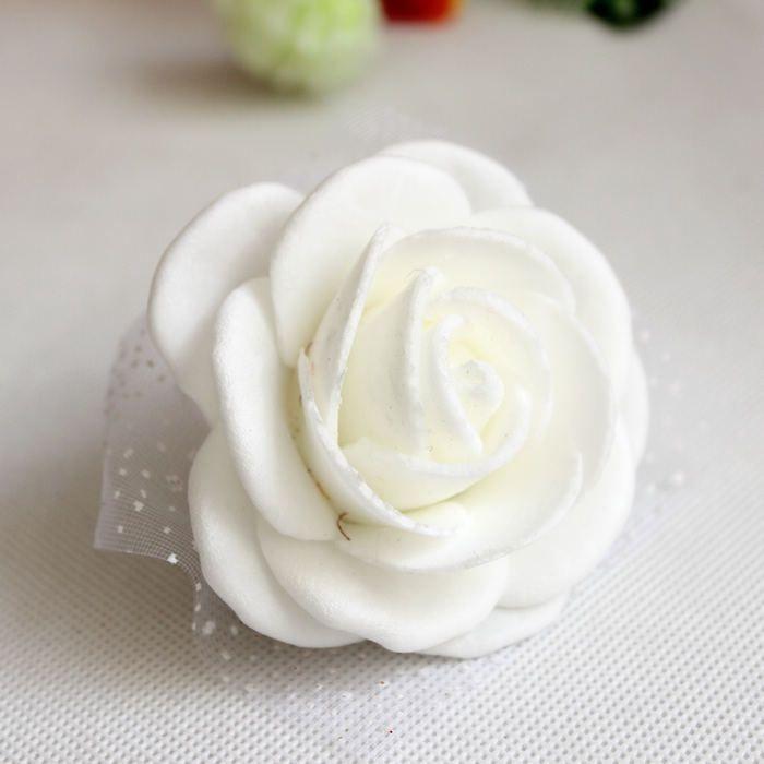 White Wedding Theme Artificial Bridal Bridesmaids Hand Flowers Wrist