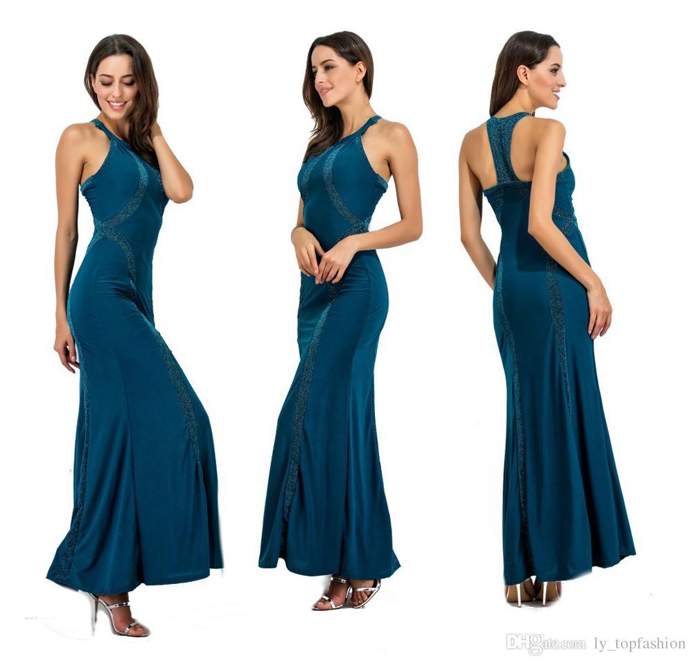 Großhandel Formale Kleid Frauen Lange Backless Party Kleider Sleeveless  Schlank Elegante Bodycon Abend Feiern Maxi Vestidos Von Ly_topfashion,  $16.16