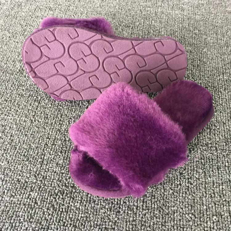 Baby Mother Slippers Fur Home Home Girls Warm Comfortable Fluffy Antideslizante Shoes Indoor Child Slipper Wear para Niños Tamaño Único 22-40