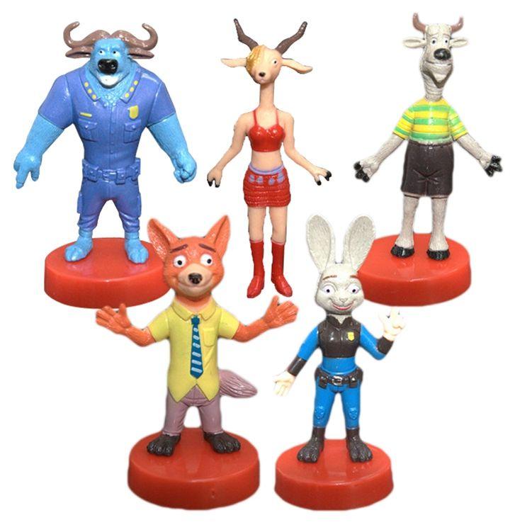 prettybaby zootopia action figures toys 5 designs animals cartoon