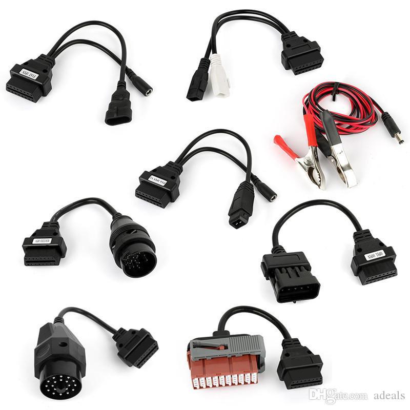Juego completo de cables de coche de 8 piezas para TCS Cdp pro / delphi ds150e cdp herramienta de diagnóstico con el mejor precio