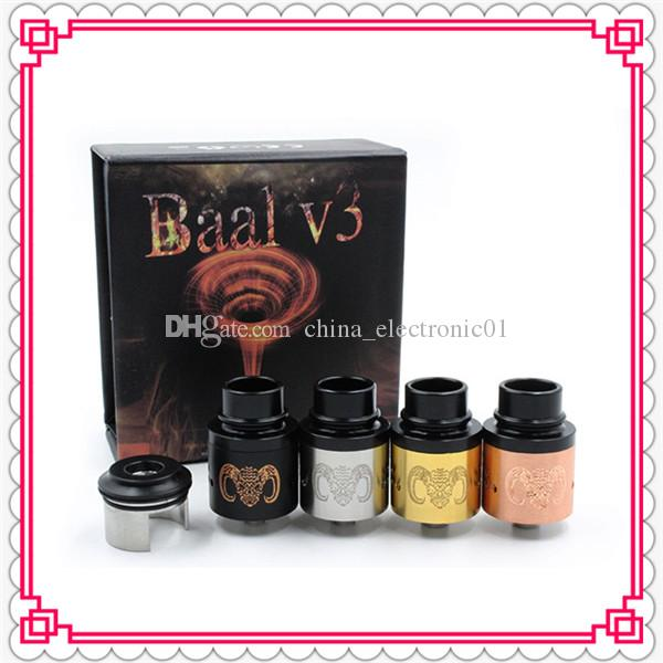 new baal v3 rda rebuildable dripping tank atomizer vaporizer clone BAAL V3 RDA for box mod variable wattage mechanical mod DHL Free