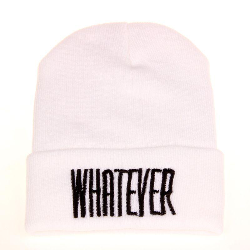 Inverno preto o que chapéu gorro e snapback para homem mulheres inverno cap 20 pçs / lote frete grátis