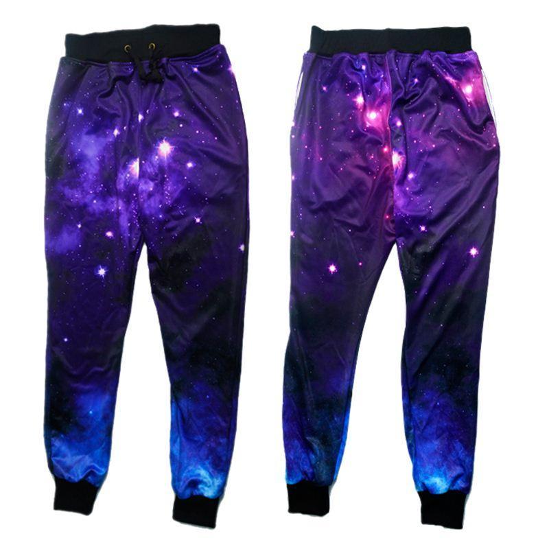 Compre W1208 Alisister Basculadores De Las Mujeres Pantalones De Deporte  Espacio Vista 3d Galaxia Gráfico Corriendo Pantalones De Chándal Pantalones  De ... e8c89a62736e7