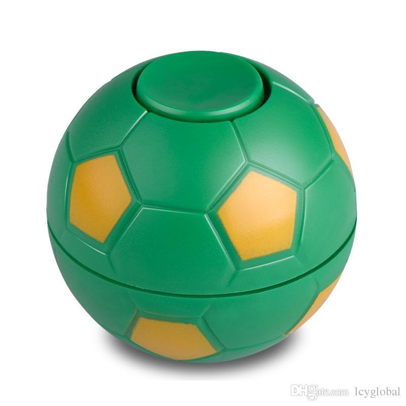 2017 Creative ABS hand spinner football basketball spinner finger football fidget ball with whistle toys with opp bag Christmas Gift