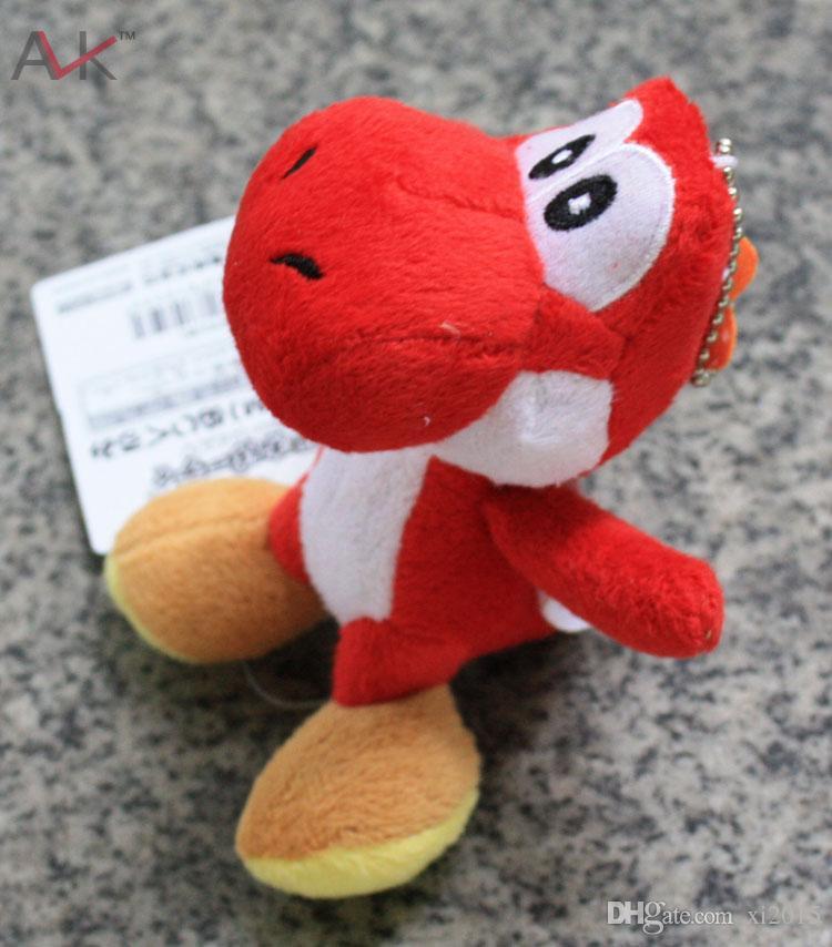 "Soft Plush Super Mario Bros Yoshi Plush Anime 4"" Keychain yoshi keychain phone chain plush"