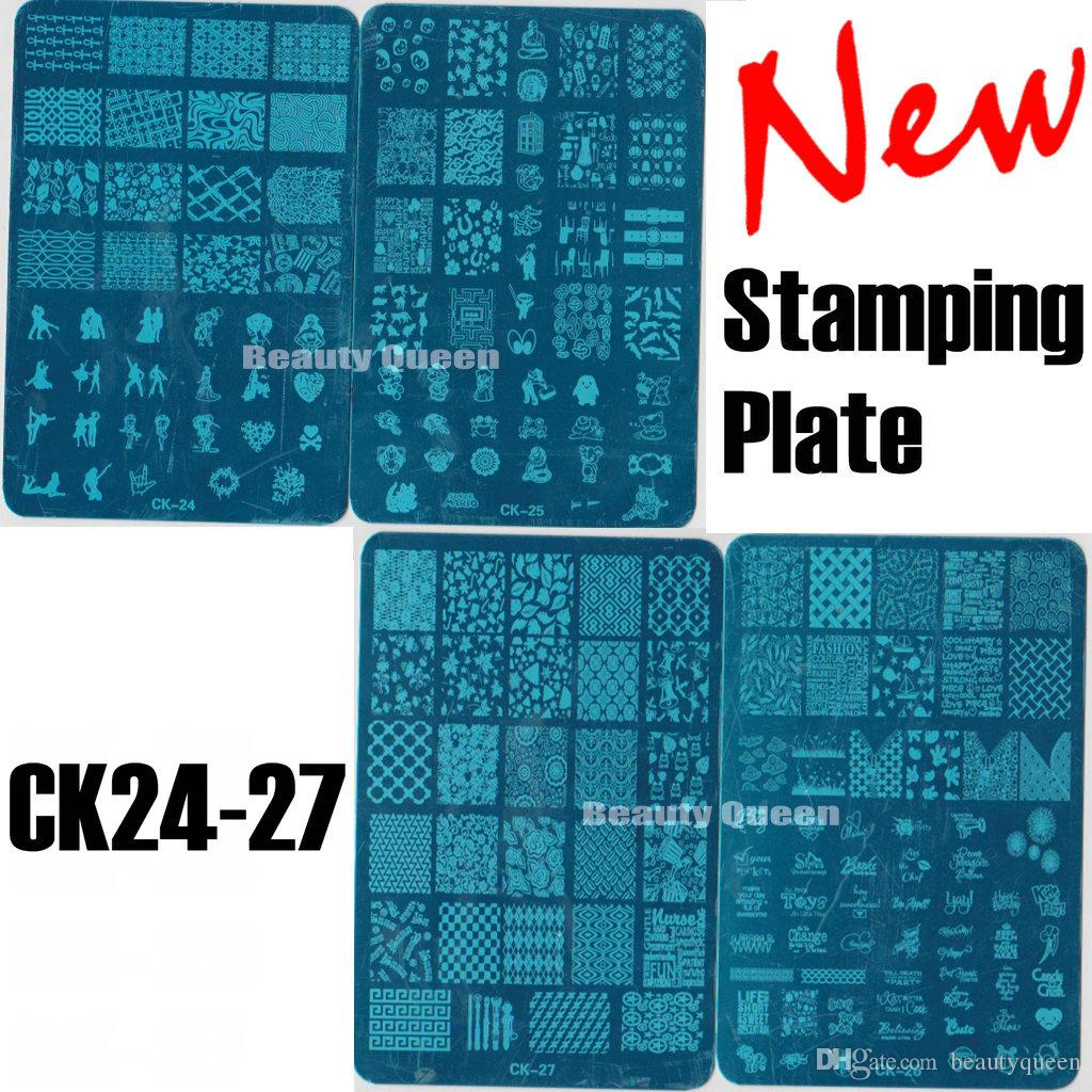 New 4 Style Xl Full Anime Designs Nail Stamping Plate Nail Art Stamp ...