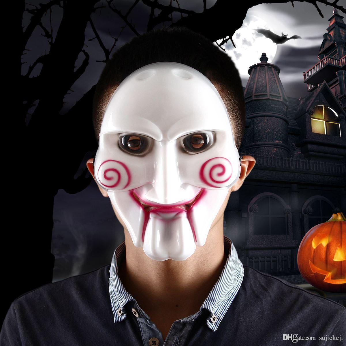 Horror Costume Party Scary Saw Billy Pvc Mask For Halloween ...