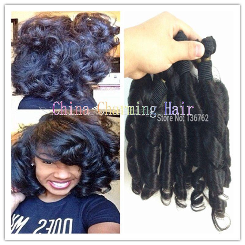 Cheap 3 Bundles Peruvian Aunty Funmi Hair Weave Romance Curl Human