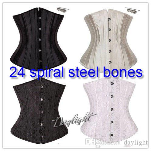 60a7ea83c0e 2019 24 Steel Bone Waist Cincher Trainer Waist Training Corsets Body Shaper  Underbust Corset Plus Size Waist Cincher Black White Khaki From Daylight