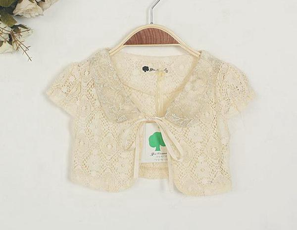 2015 Girl Summer Lace Cardigan Coat New Baby Girl Hollow Top ...