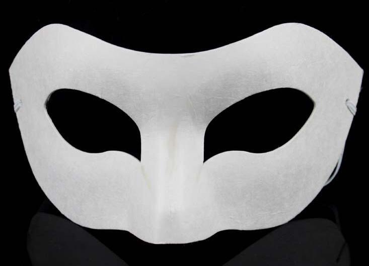 Venda quente DIY Zorro Máscara de Papel Em Branco Máscara de Jogo para Escolas de Formatura Celebração Novidade Festa de Halloween máscara masquerade