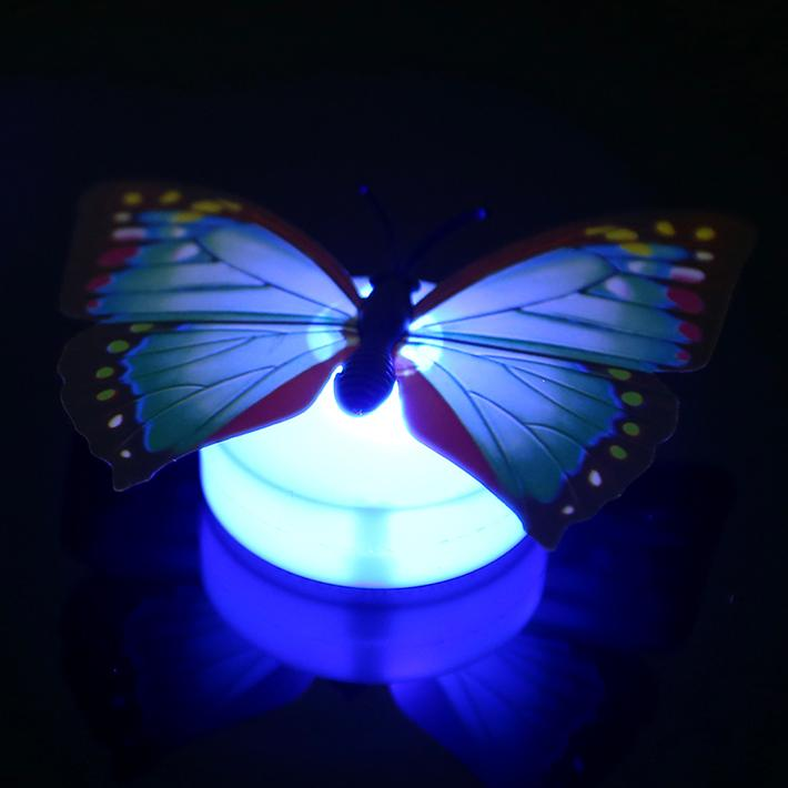 2019 New Colorful Fiber Optic Butterfly Nightlight Led