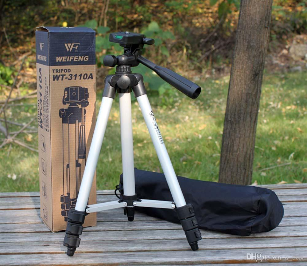 WT-3110A Portable Lightweight Phone Camera Tripod & Ball Head Holder With Carrying Bag For Canon Nikon Sony DSLR Camera DV