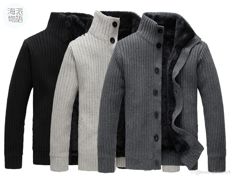 Online Cheap New!korean Mens Slim Fit Cardigan Sweaters ...