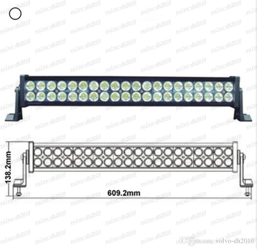 120W 24 Zoll-LED Arbeits-Licht-Auto-Lichtstange weg von den Straßen-Lichtern, die Lampen-Flut-Stellen-kombinierten Strahl für LKW SUV Boot 4X4 4WD ATV UTE-Traktor LLFA fahren