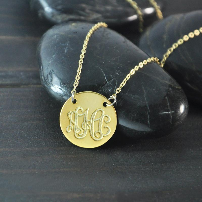 18k gold plated monogram necklace initials necklace monogram 18k gold plated monogram necklace initials necklace monogram pendant monogram jewelry engrave monogram necklace circle necklace monogram necklace aloadofball Gallery