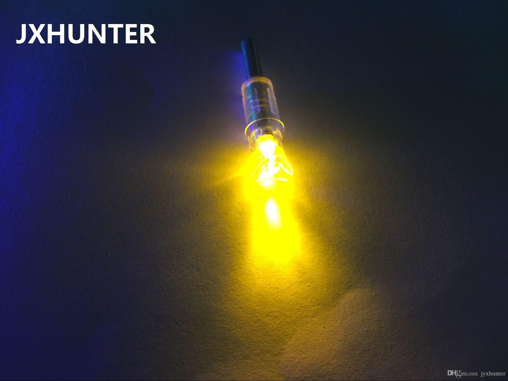 La flecha de la media luna del color amarillo 3PK nocks colas de la flecha para los pernos de la ballesta del carbono con la luz llevada