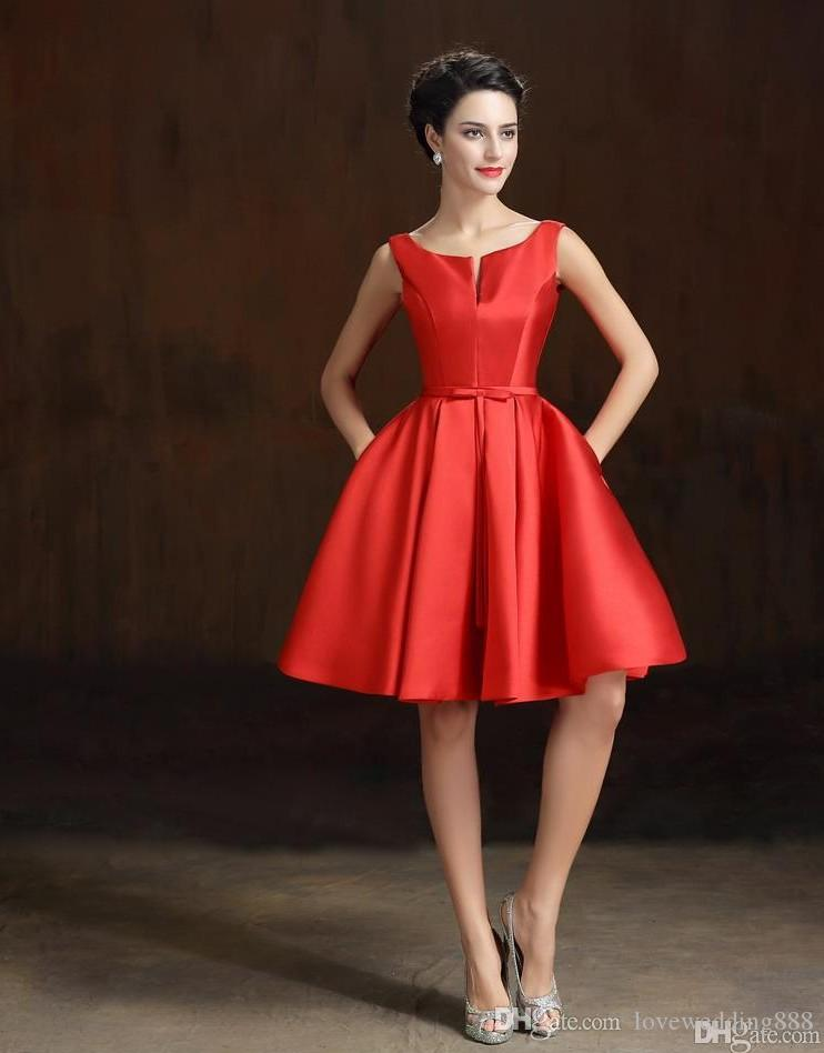 2019 Short Special Occasion Dresses Designer Jewel Neck Knee Length Sash Cocktail Party Gowns Cheap Evening Prom Wear Custom Made New