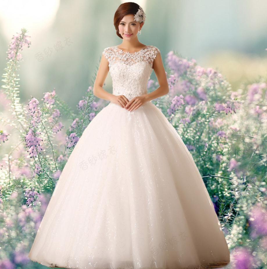 Discount Designer Wedding Gowns: Discount New Arrival A Line Satin Floor Length Bridal