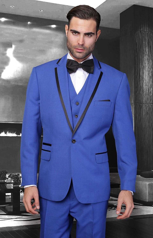 Royal Blue Groom Suits 2015 Tuxedos For Wedding Peak Lapel Groom ...