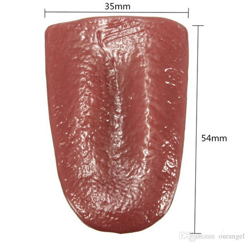 Orribile Trafitto Fake Tongue - Soft Rubber Close-up Terror Magic Prop Trick - Halloween Forniture Wacky Joke Toy