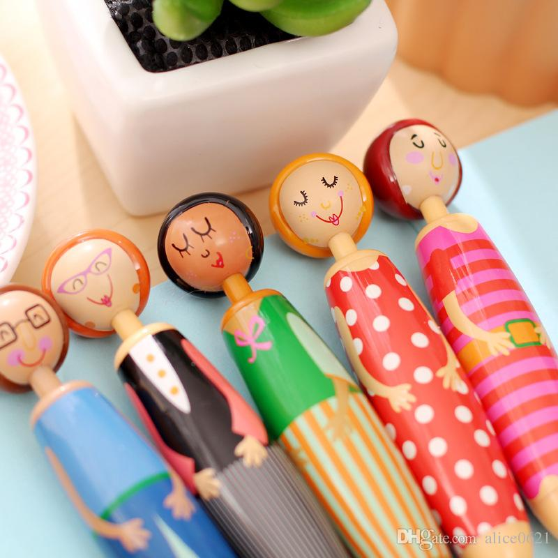 Funny Doll Villain Ballpoint Pen Blue Ink Ballpen Cute Gift Office Stationery School Supplies