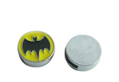 20, 50 Adet / grup 8 MM Batman Burcu Slayt Charms DIY Alaşım Aksesuarları 8mm Deri Bilezik Anahtarlıklar Telefon Şeritler Için Fit