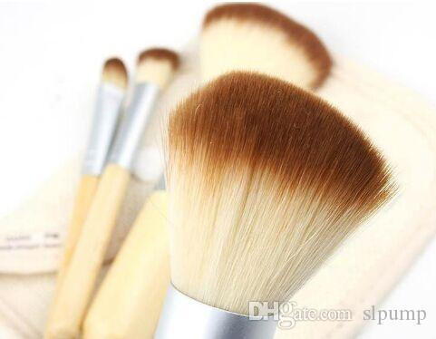 Set Kit деревянные кисти для макияжа красивые профессиональные бамбуковые сложные инструменты для макияжа с футляром на молнии сумка Сумка бесплатно DHL