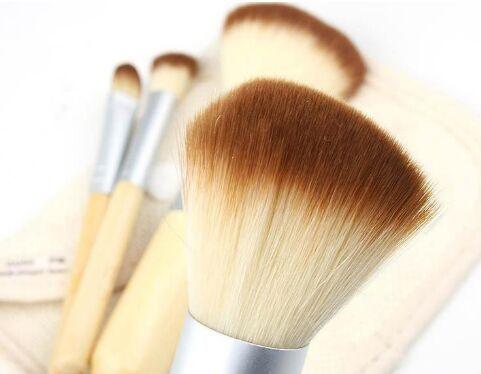 Set Kit Holz Make-up Pinsel Schöne professionelle Bambus aufwendige Make-up Pinsel Werkzeuge mit Fall Reißverschluss Tasche Taste Tasche Free DHL