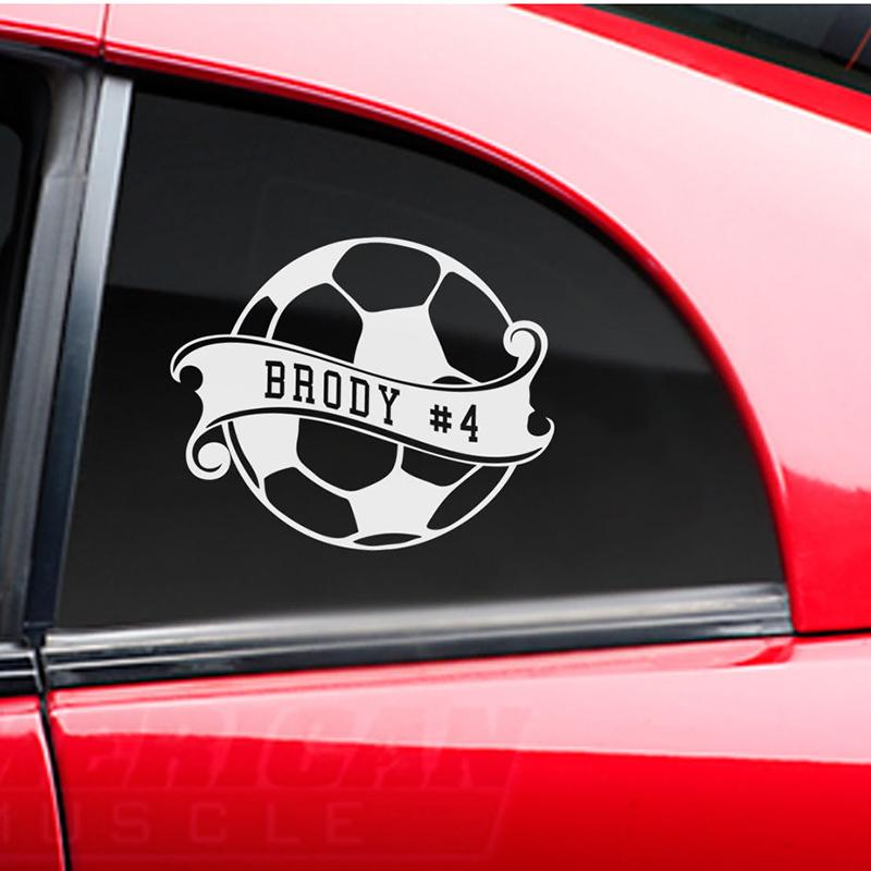 2018 soccer ball sticker custom name decal car window sticker from xymy787 2 92 dhgate com