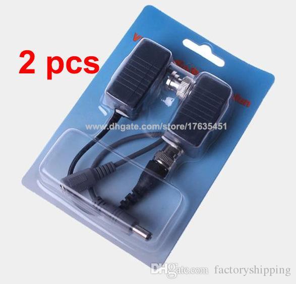1000 adet CCTV Coax BNC Video Güç Pigtail Balun Telsiz UTP Adaptörü CAT5e 6 Fedex / DHL Ücretsiz Nakliye