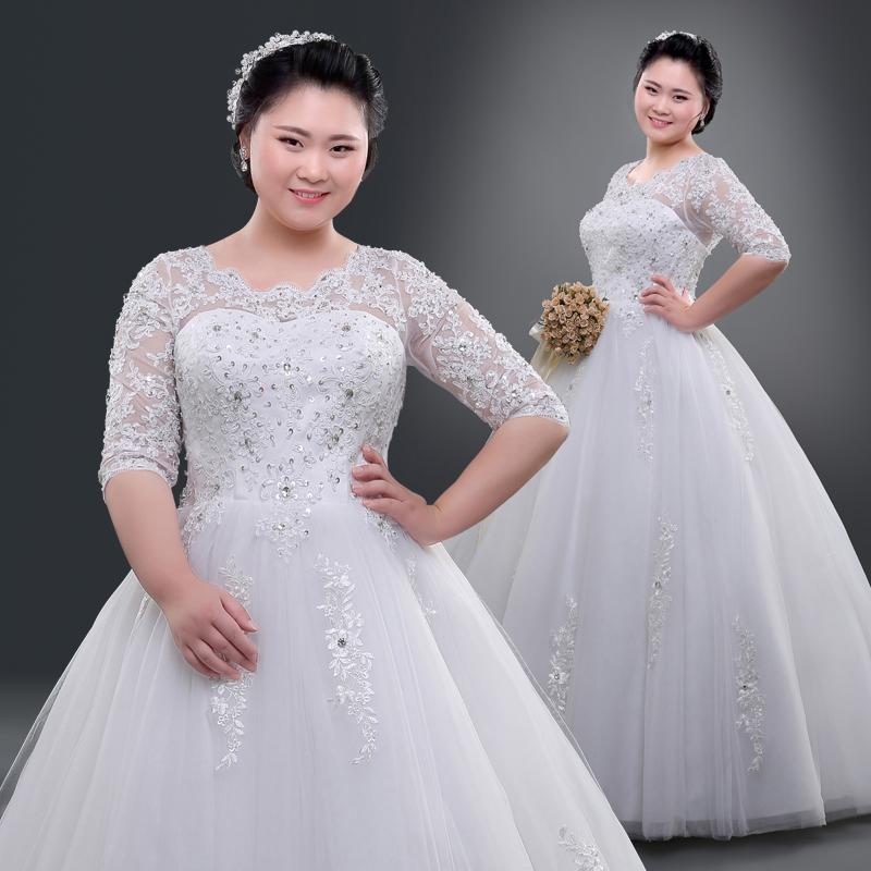 Discount 2016 Lace Wedding Dresses Real Picture For Chubby