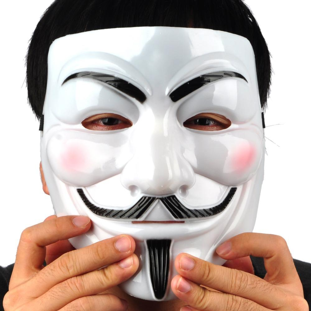 V For Vendetta Anonymous Guy Fawkes Plastic Mask Durable Good ...