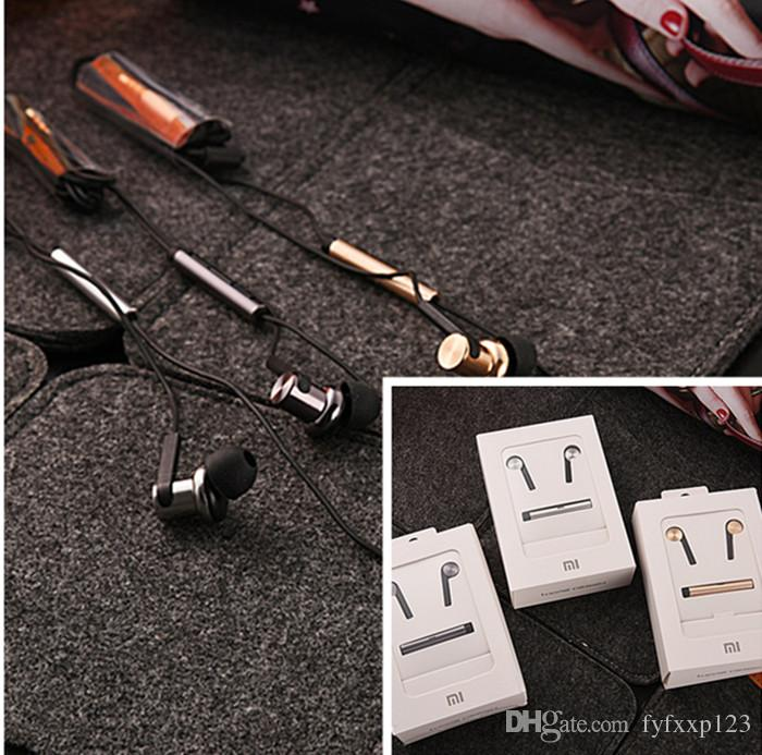 Xiaomi HIFI Headphone Noise Cancelling Headset Universal 3.5MM Metal Earphone For Xiaomi with retail package a43