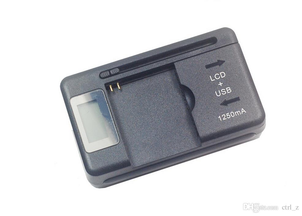 Universal Inteligente Indicador LCD Cargador de batería Para Samsung GALAXY S4 I9500 S3 I9300 NOTA S5 con carga de salida usb EE. UU.