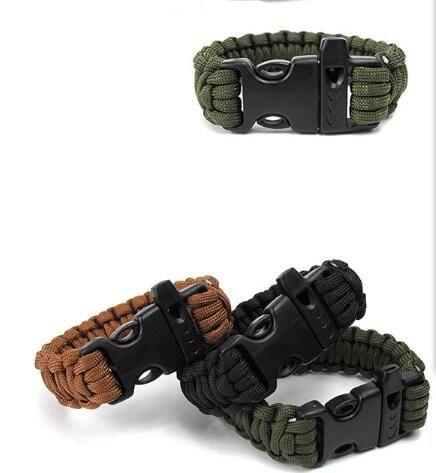 Self-rescue Paracord Parachute Cord Bracelets Survival bracelet Camping Travel Kit 2017 new