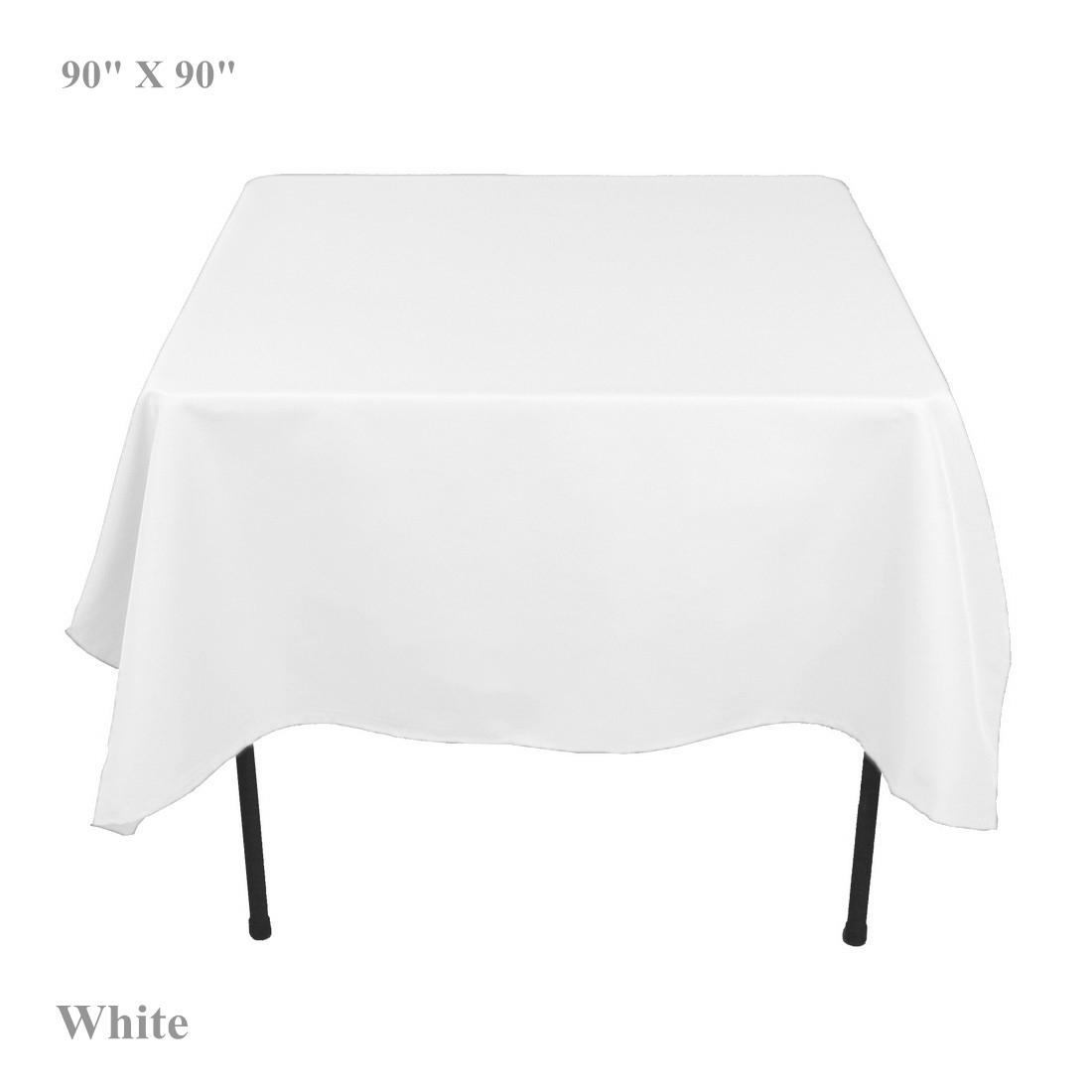 christmas tablecloth 90 x 90 square polyester white ivory black table cover cloth home party dining room 60 round tablecloths circular tablecloths from - Square Christmas Tablecloth
