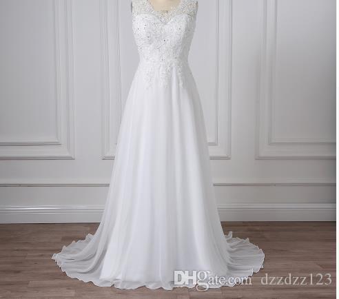 Großhandel Adln Günstige Plus Size Brautkleider V Ausschnitt ...