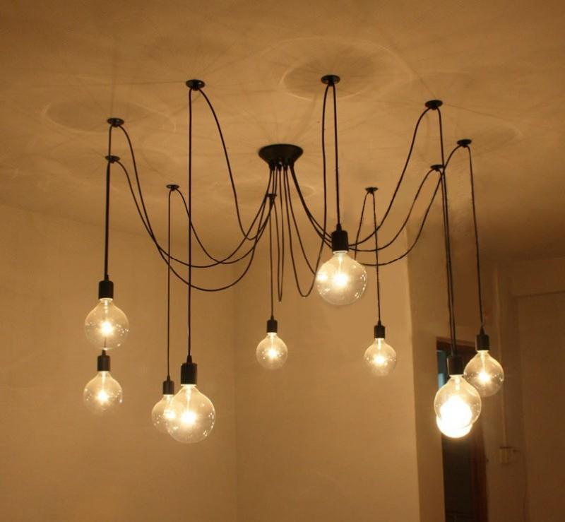 Lights & Lighting Nordic Chandeliers Industrial Wind Restaurant Chandeliers Creative Retro Iron Lamp Post-modern Chandeliers Led Lamps For Bedroom Large Assortment Ceiling Lights & Fans
