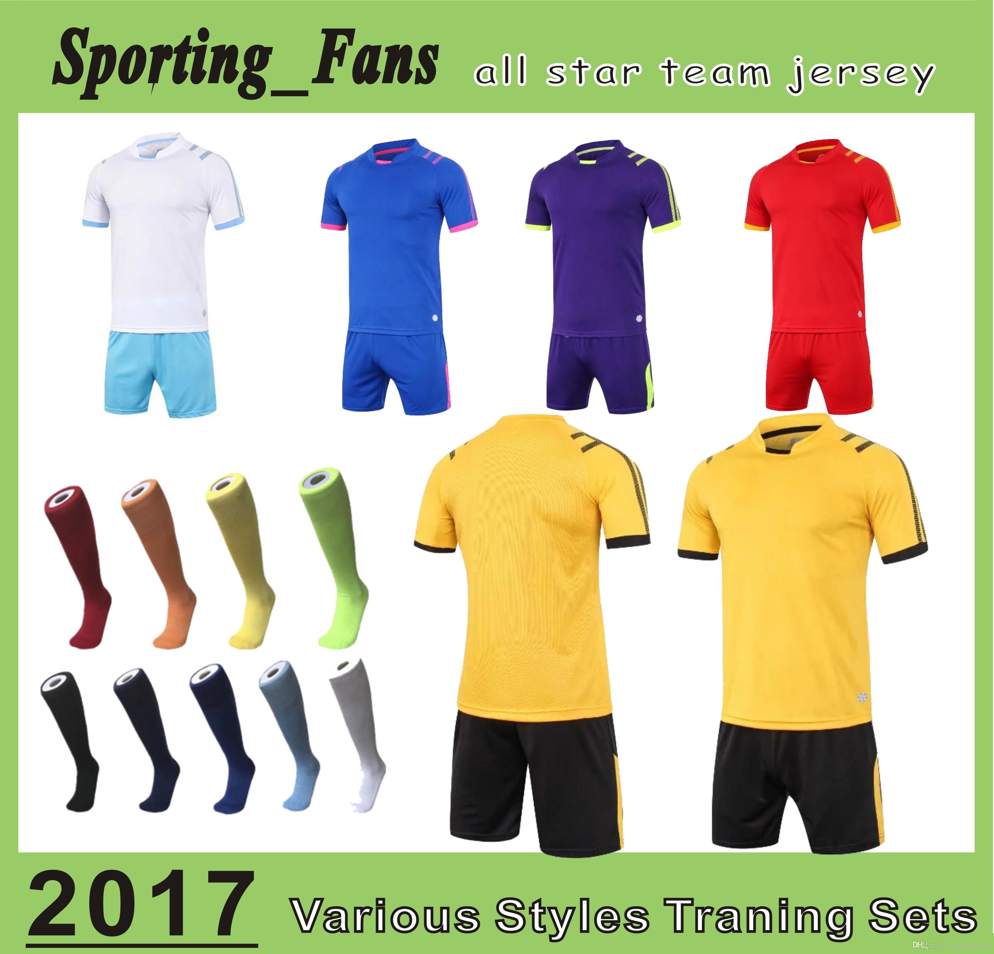 B807 1608 Soccer Training Jerseys,football Sets,soccer Uniforms! DIY ...