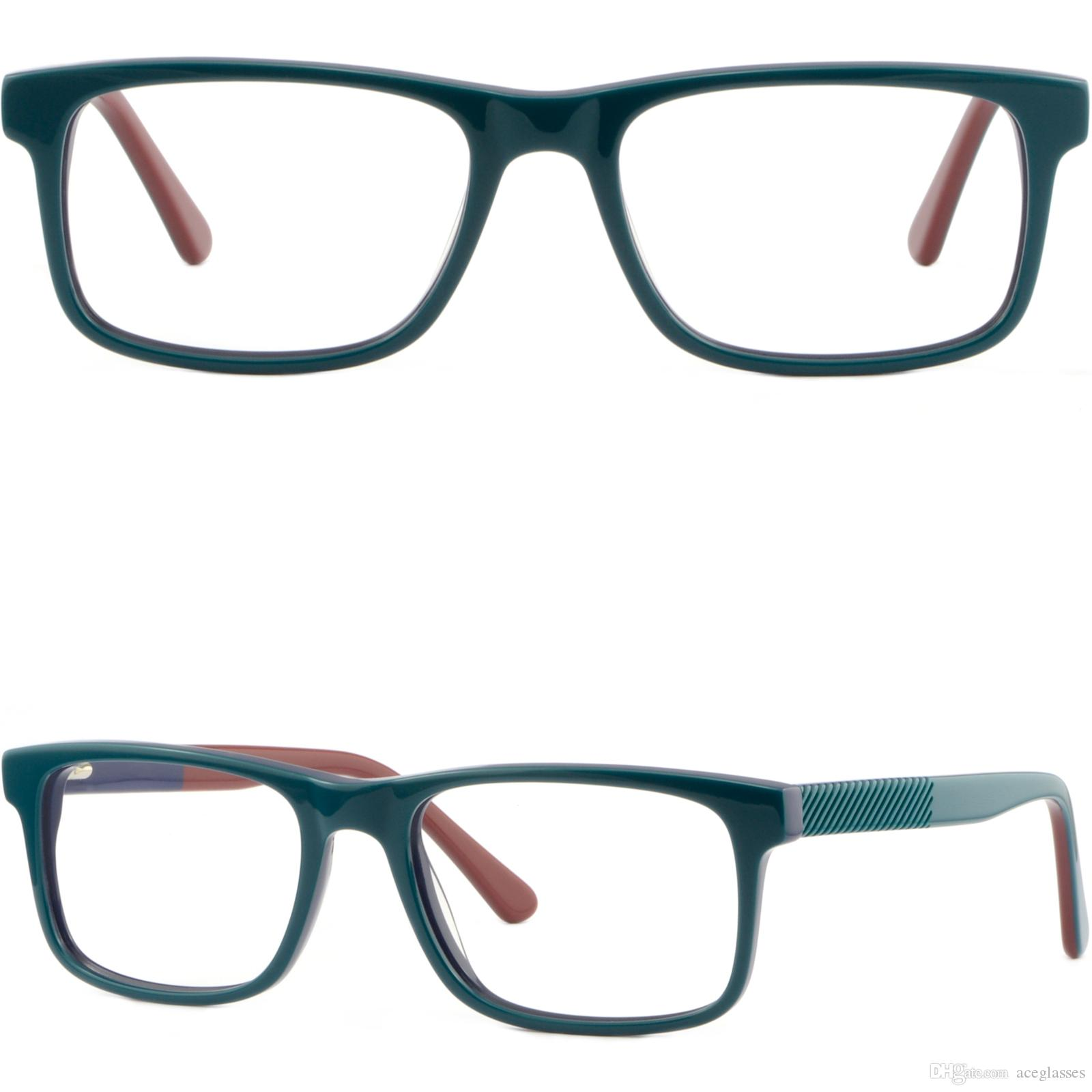 1d82e7a0eb5 Light Mens Women Acetate Plastic Frame Rectangle Prescription Glasses Dark  Green Glasses Frame Online with  31.08 Piece on Aceglasses s Store