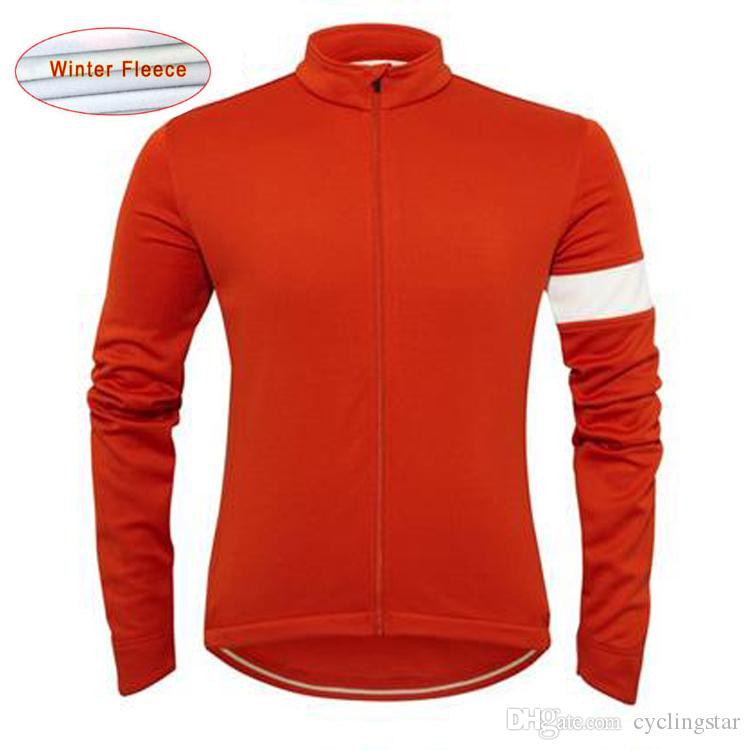 2017 RAPHA pro team camisetas de ciclismo Invierno Thermal Fleece ropa de manga larga ciclismo maillot ciclismo bicicleta de montaña ropa L1101