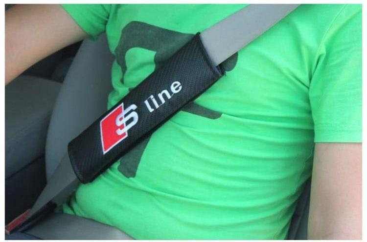 Carbon Fiber Seat Belt Cover Pad Shoulder Pad Fit For FORD KIA MINI MOMO ST STI VOLVO Car Styling