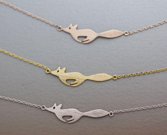 10шт-B016 серебро золото милый лес работает Фокс браслеты простой 3d животных Фокс лицо браслет крошечные Фокс хвост браслеты для женщин