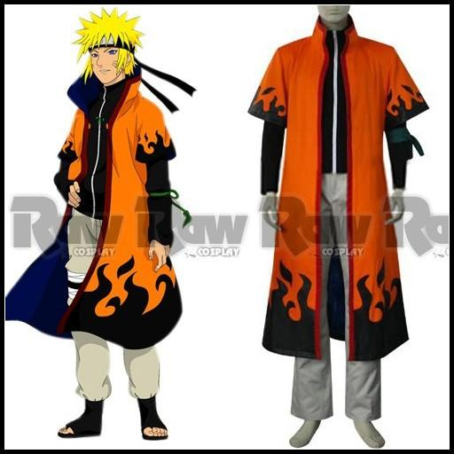 Hot Sale Anime Manto Naruto 6th Hokage Cosplay Costumes Outfit Uzumaki Long Orange Cloak Role Playing Clothing For Men Women RAW0009 Character
