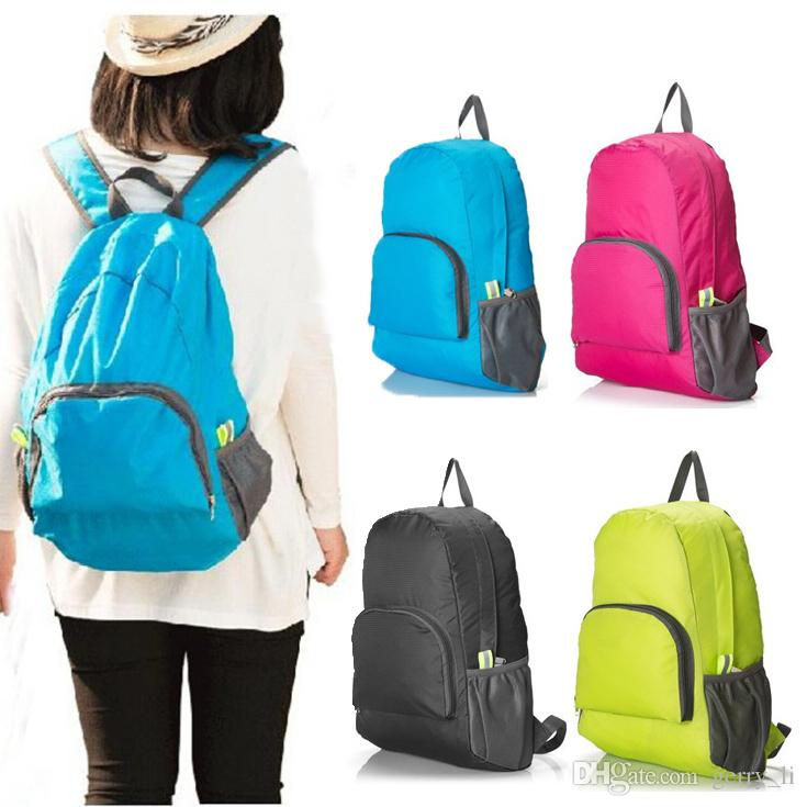 2015 Men And Women Outdoor Backpack Foldable Skin Bags Lightweight ...