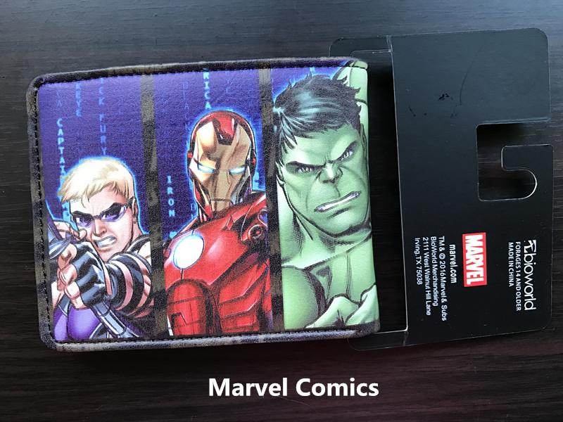 DC Comics Marvel Avengers Iron Man Captain America Wallet Men Short Wallet Cartoon Student Wallet Coin Purse Change Carteira