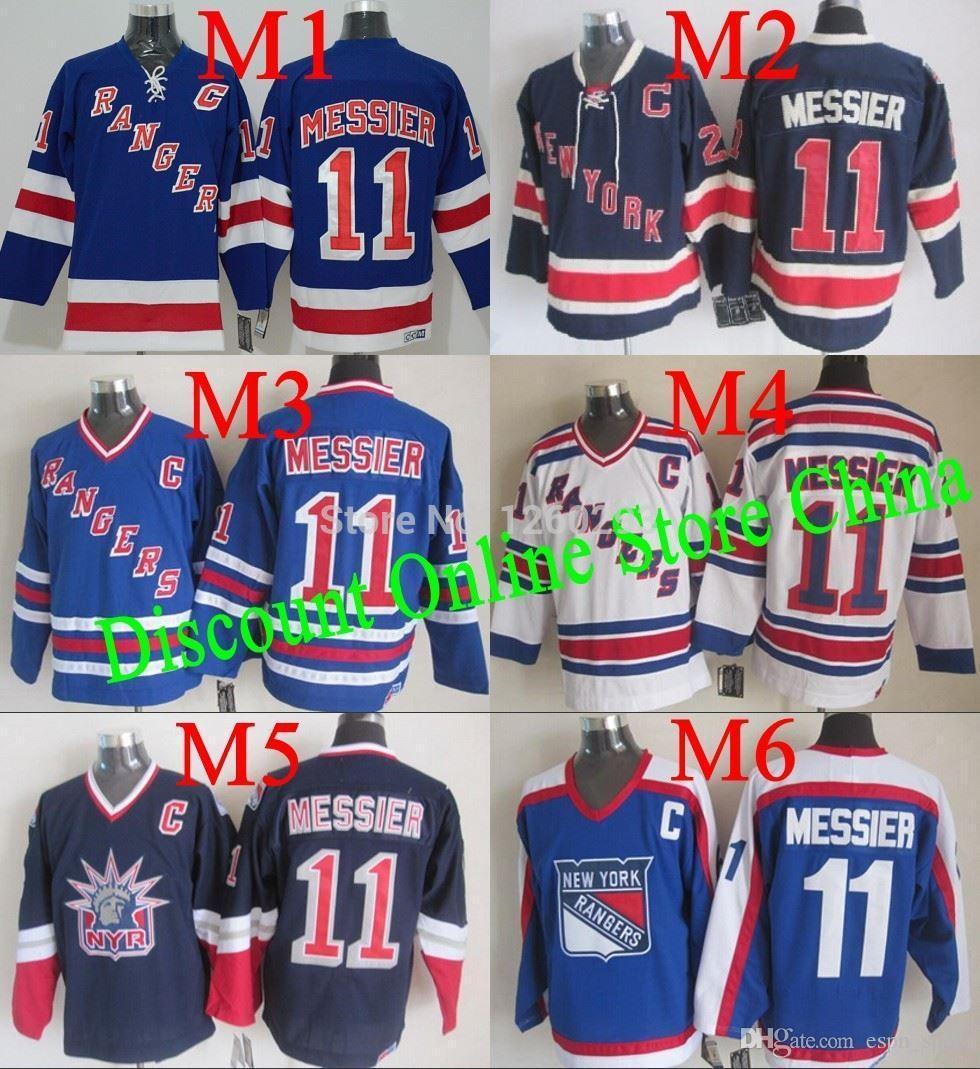 best service 67092 edbf4 2015 Free Shipping Best Quality New York Rangers Jerseys #11 Mark Messier  Jersey Stitch ny rangers jerseys Can add any patch